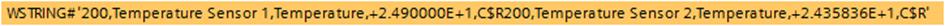 MQTT data string